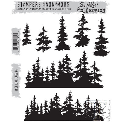 Cling Stamp, Tree Line