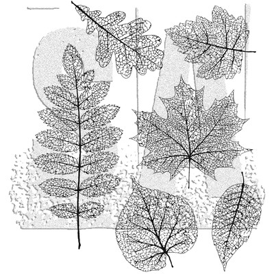 Cling Stamp, Pressed Foliage