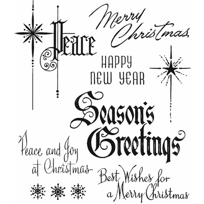 Cling Stamp, Christmastime #2