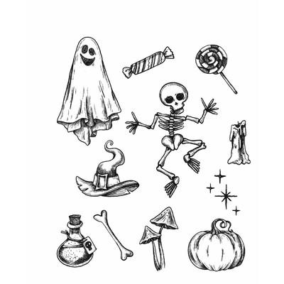 Cling Stamp, Halloween Doodles