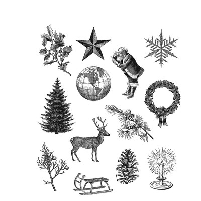 Cling Stamp, Holiday Things