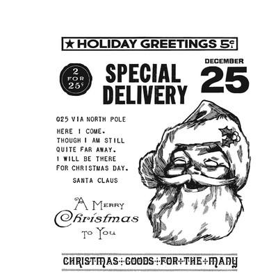 Cling Stamp, Jolly Santa