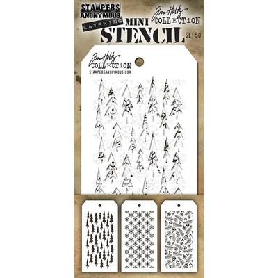 Mini Layering Stencil Set, #50 (3pc)