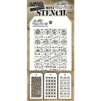 Mini Stencil, Set #51 (3pc)