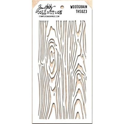 Layering Stencil, Woodgrain