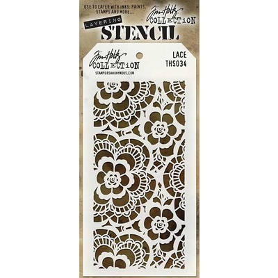 Layering Stencil, Lace