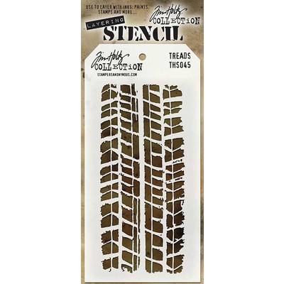 Layering Stencil, Treads