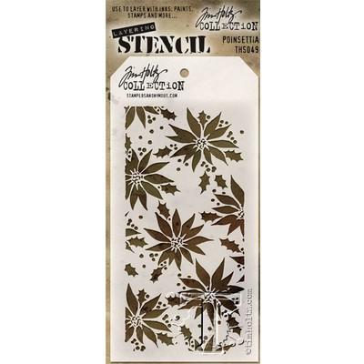 Layering Stencil, Poinsettia
