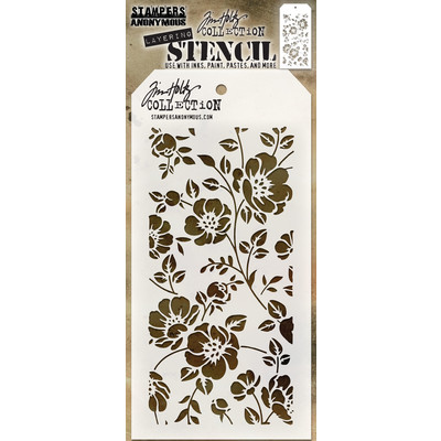 Layering Stencil, Floral