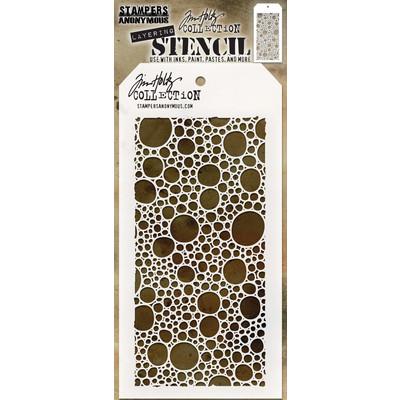 Layering Stencil, Bubbles