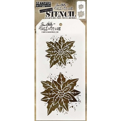 Layering Stencil, Poinsettia Duo