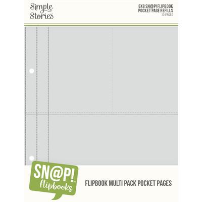 SNAP! 6X8 Flipbook Page Refills, Multi