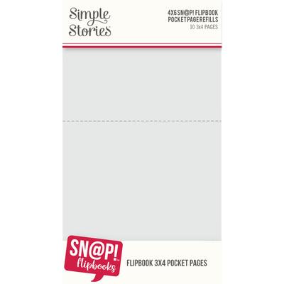 SNAP! 4X6 Flipbook Page Refills, 3X4