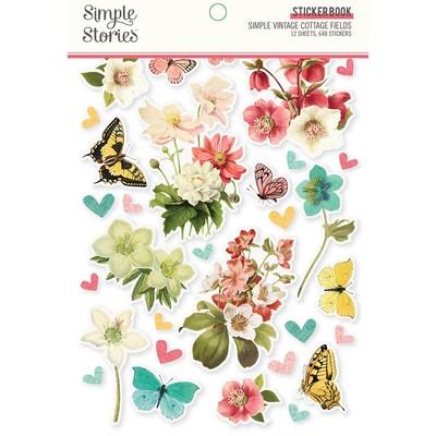 Sticker Book, Simple Vintage Cottage Fields