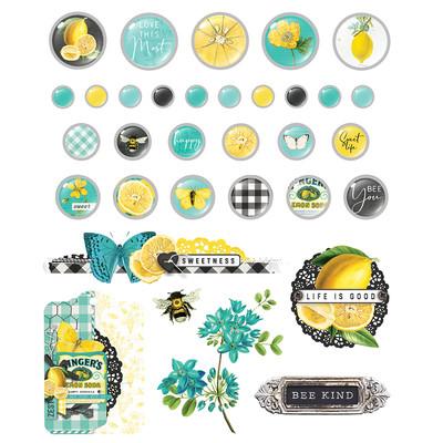 Decorative Brads, Simple Vintage Lemon Twist