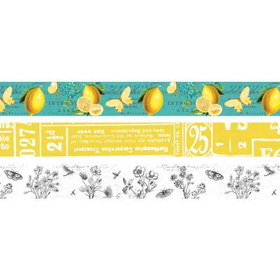 Washi Tape, Simple Vintage Lemon Twist