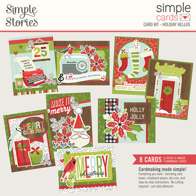 Simple Cards Card Kit, Holiday Hellos