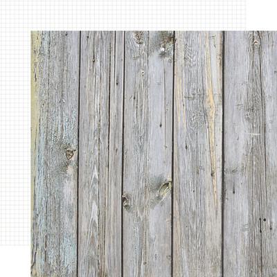 12X12 Color Vibe Cardstock, Birch/White Grid