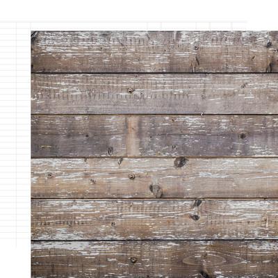 12X12 Color Vibe Cardstock, Cedar/White Ledger