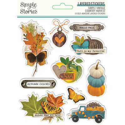 Layered Stickers, Simple Vintage Country Harvest