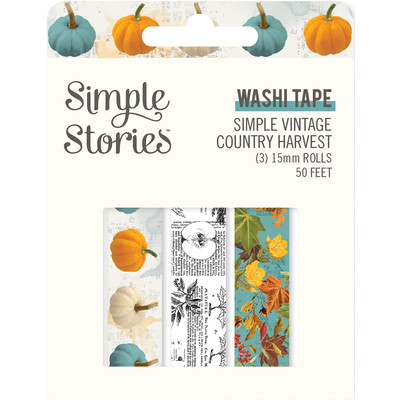 Washi Tape, Simple Vintage Country Harvest