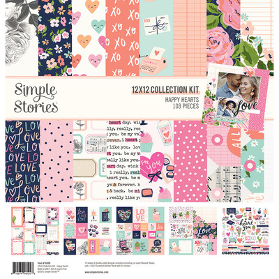 12X12 Collection Kit, Happy Hearts