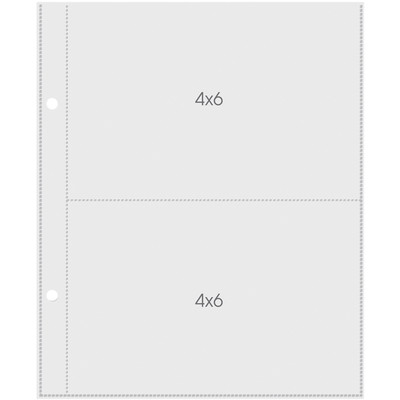 Pocket Pages, 4X6In Pockets - 6X8In Sheets (10) Pages