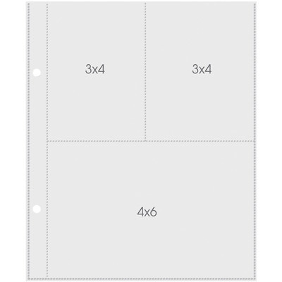 Pocket Pages, 3X4/4X6In Pockets 6X8In Sheets (10) Pages