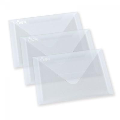 """Plastic Envelopes, 5"""" x 6 7/8"""", 3 Pack"""