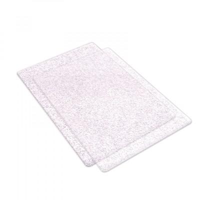 Standard Cutting Pads, Clear W/ Silver Glitter - 1 Pair