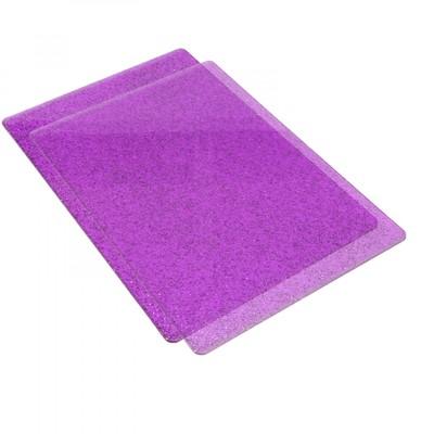 Standard Cutting Pads, Purple W/ Silver Glitter - 1 Pair