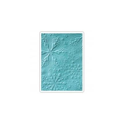 3D Textured Impressions Emb. Folder - Winter Snowflakes