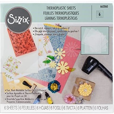 6X6 Thermoplastic Sheets, Clear, 6Pk