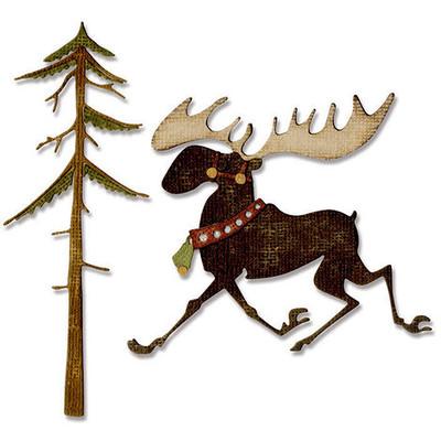 Thinlits Die, Merry Moose (12pk)