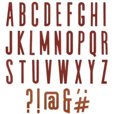 Thinlits Die Set, Alphanumeric Classic Upper (65pk)