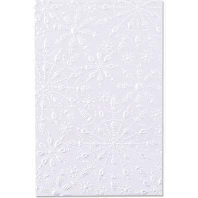3D Textured Impressions Emb. Folder - Jeweled Snowflakes
