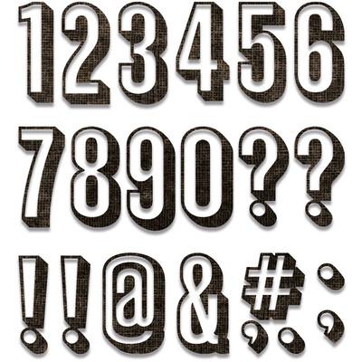 Thinlits Die Set, Alphanumeric Shadow Numbers