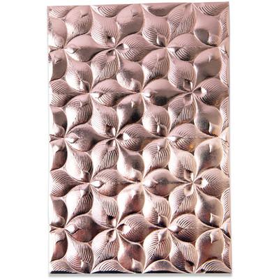 3D Textured Impressions Emb. Folder, Organic Petals