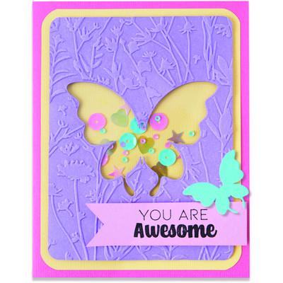 Impresslits Embossing Folder, Butterfly Meadow