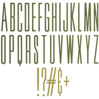 Thinlits Die Set, Alphanumeric Stretch Upper