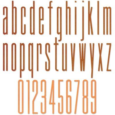 Thinlits Die Set, Alphanumeric Stretch Lower & Numbers