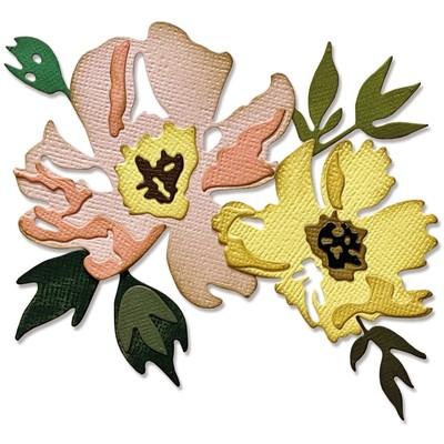 Thinlits Die Set, Brushstroke Flowers #1