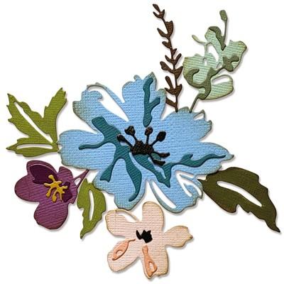 Thinlits Die Set, Brushstroke Flowers #2