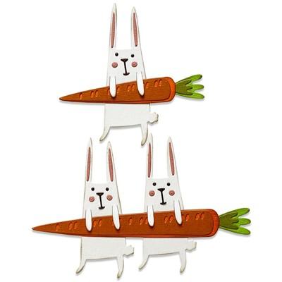Thinlits Die Set, Carrot Bunny