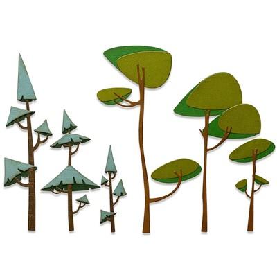Thinlits Die Set, Funky Trees