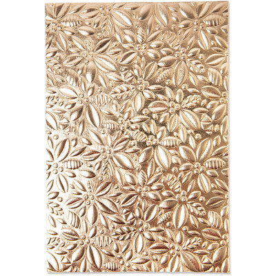 3D Textured Impressions Embossing Folder, Holly