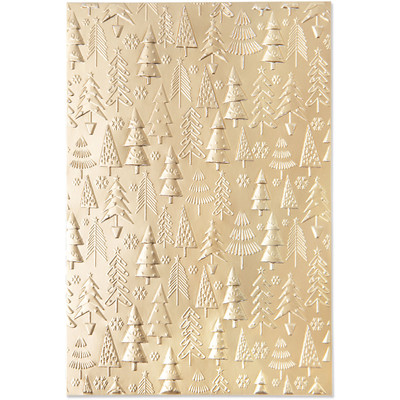 3D Textured Impressions Embossing Folder, Christmas Tree Patt.