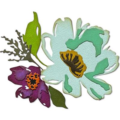 Thinlits Die Set, Brushstroke Flowers #3 (5pk)