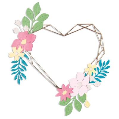 Thinlits Die Set, Floral Geo Heart Frame