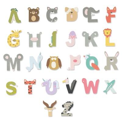 Thinlits Die Set, Animal Alphabet